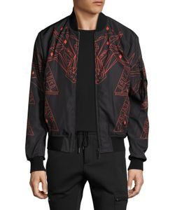Marcelo Burlon County Of Milan | Printed Stand Collar Jacket