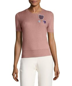 Dior | Cashmere Ribbed Patch Sweater