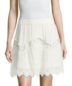 Iro | Flynn Eyelet Mini Skirt