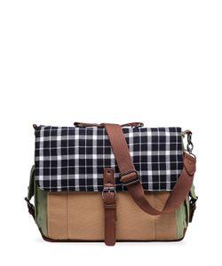 Something Strong | Plaid Flap Canvas Messenger Bag