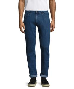 Z Zegna | Cotton Fading Straight Leg Jeans