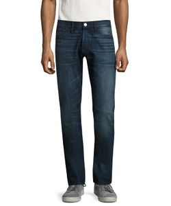 3X1   M3 Selvedge Distressed Slim Fit Jeans