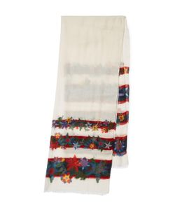 Chanel | Vintage Edelweiss Cashmere Silk Scarf 66 X 26