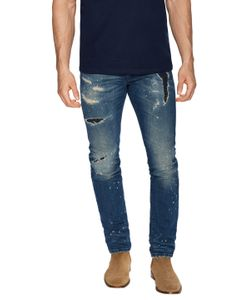Marcelo Burlon County Of Milan | Distressed Cotton Slim Fit Jeans