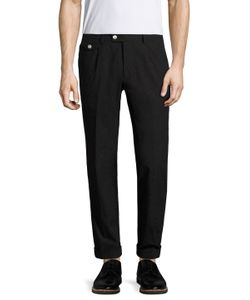 Michael Bastian | Cotton Spot Flat Front Trousers