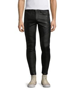 J Brand | Lamb Leather Orton Moto Jeans