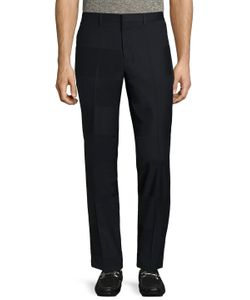 Paul Smith | Wool Striped Flat Front Trousers