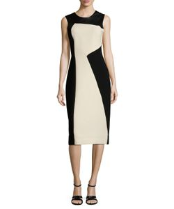 Prabal Gurung | Leather Panel Sheath Dress