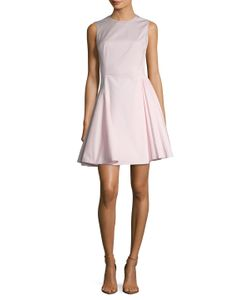 Dior | Solid Pleated Fit And Flare Dress