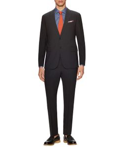 Armani Collezioni | Wool Solid Notch Lapel Suit