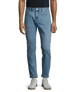 Burberry Brit | Faded Buttoned Slim Fit Jeans