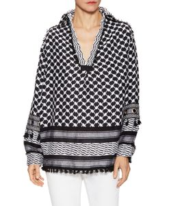 Dodo Bar Or | Mandy Cotton Printed Tassel Trimmed Blouse