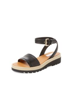See by Chloé | Leather Ankle-Wrap Sandal