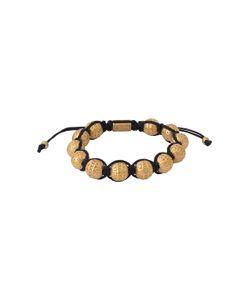 King Baby | Macrame Bracelet With Brass Flower Beads