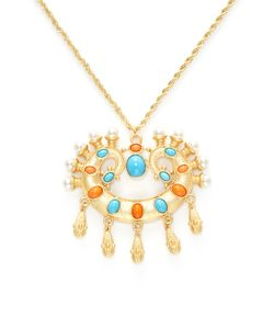 Kenneth Jay Lane | Resin Pearl Pendant Necklace