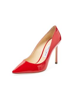 Jimmy Choo | Romy 100 Patent Leather Pointed-Toe Pump