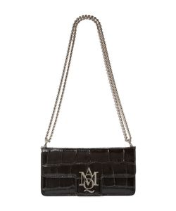 Alexander McQueen | Insignia Small Croc Embossed Leather Shoulder Bag