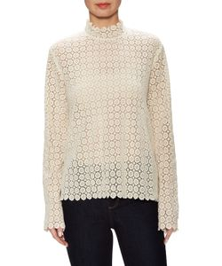 Valentine Gauthier | Churchill Lace Stand Collar Sweater
