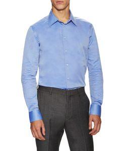 Armani Collezioni | Cotton Solid Dress Shirt