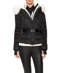 Moncler | Beverley Fur Trim Hood Belted Jacket