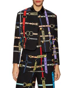 Love Moschino | Belt Printed Jacket
