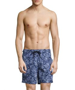 Z Zegna | Leaves Swim Trunks