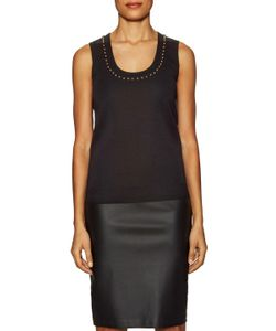 Givenchy | Wool Embellished Scoopneck Shell