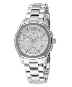 Salvatore Ferragamo   Lungarno Chrono Stainless Steel Watch 43mm