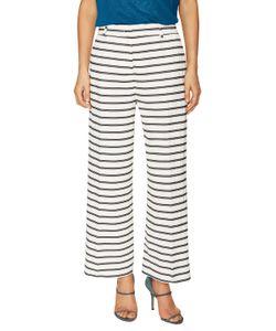 Piazza Sempione | Cotton Striped Wide Leg Trouser