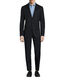 Z Zegna | Wool Solid Notch Lapel Suit