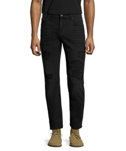7 For All Mankind | Slimmy Rip Repair Slim Jeans