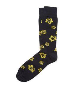 Brooks Brothers | Cotton Crew Hibiscus Socks