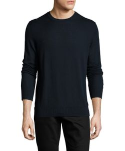 Burberry London | Cashmere Crewneck Sweater With Check Elbow Patch