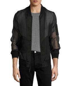 Blk Dnm | Silk Organza Bomber Jacket