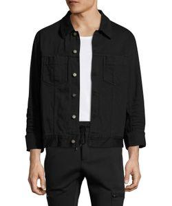 Maison Margiela | Solid Spread Collar Denim Jacket