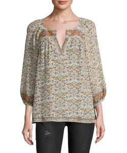 Joie   Ronny Silk Printed Blouse
