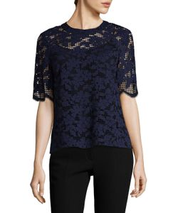 Prabal Gurung | Lace Crewneck Top
