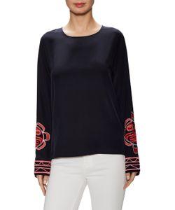 Valentine Gauthier | Mandrin Silk Embroidered Sleeve Top