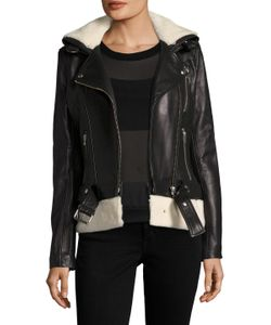 Iro | Kolia Leather Fur Trim Jacket