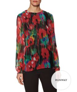 Jason Wu | Blur Silk Chiffon Top