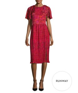 Prabal Gurung | Pleated Print Chiffon Dress
