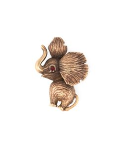 Estate Fine Jewelry | Estate 9k Ruby Elephant Brooch