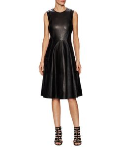 Prabal Gurung | Molded Leather Flared Dress