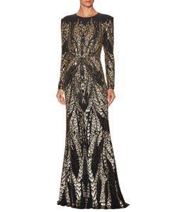 Jenny Packham   Leaf Graphic Embellished Gown