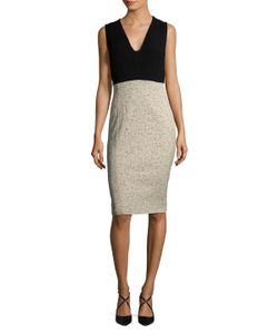 Narciso Rodriguez | Jacquard Contrast Sheath Dress