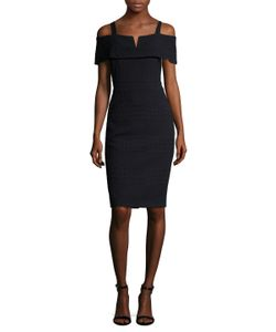 Badgley Mischka | Grid Trimmed Sheath Dress