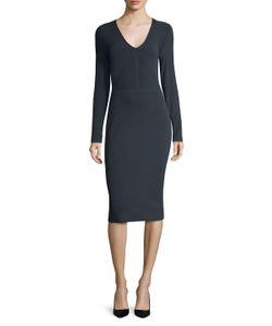 Narciso Rodriguez | Paneled V-Neck Sheath Dress