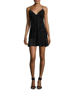 Anna Sui | Embroidered Slip Flared Dress