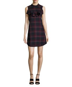 Suno | Wool Plaid Shift Dress