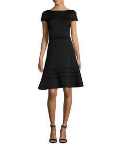 Carolina Herrera | Lace Trim Flared Dress
